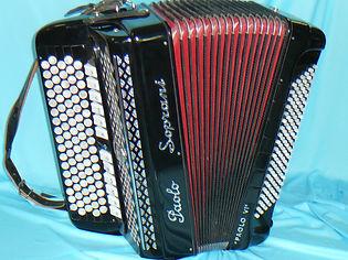 13Palo Soprani 4chöriig schwarz Stufentastatur