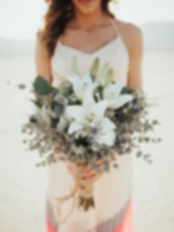Desert inspired bridal bouquet at the Dry Lake Bed