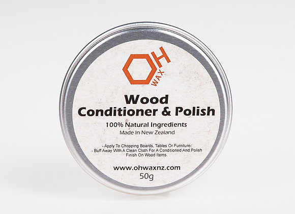 Natural Beeswax Conditioner & Polish (50g)