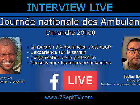 #Interview LIVE🎥 - La journée nationale des Ambulanciers -🎤