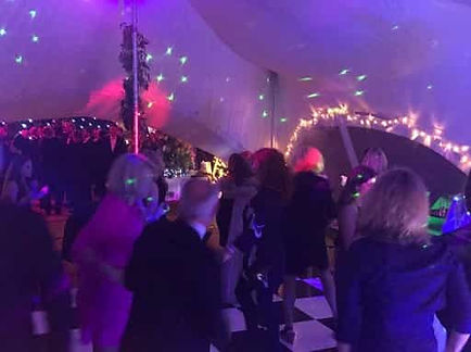 Lighting effects - included as standard in the wedding venue hire fee