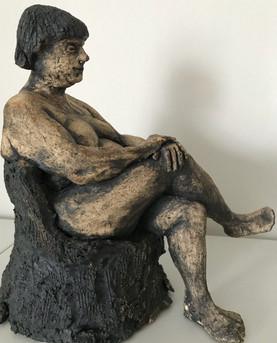 Sitting lady