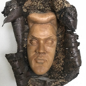 Face made out of wood