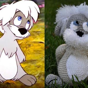 "Disney's ""Black Cauldron"" Gurgi Inspired Stuffed Animal"
