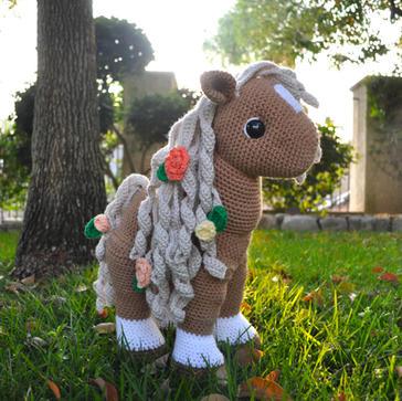 Anniversary Horse Crochet Stuffed Animal