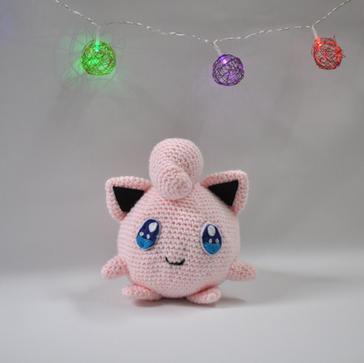 Jigglypuff Inspired Stuffed Animal