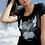 t-shirt noir Coeur ailé chaine et roses paco chicano