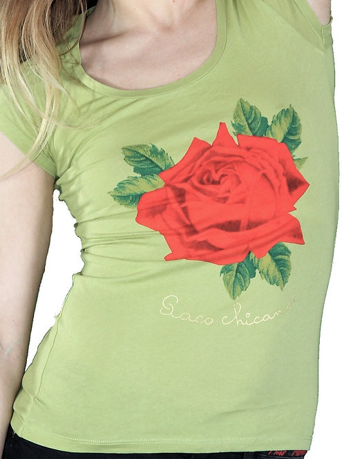 T-shirt big rose