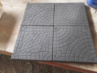NEW! 300x300mm cobblestone pattern