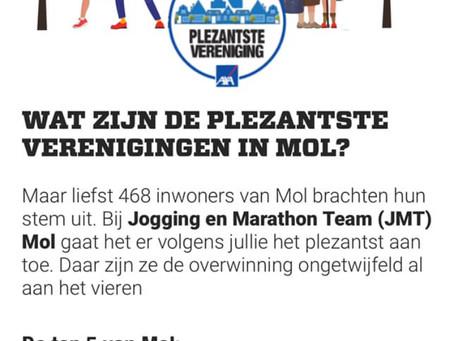 JMT is plezantste vereniging van Mol