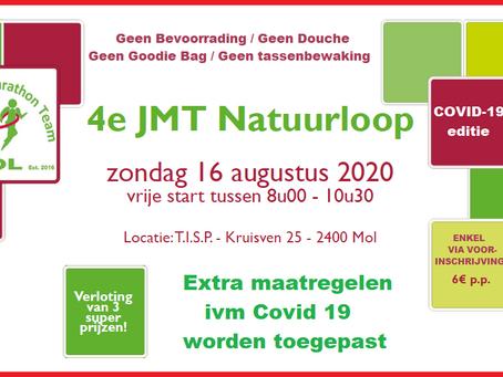 JMT Natuurloop: Extra Covid-19 maatregelen