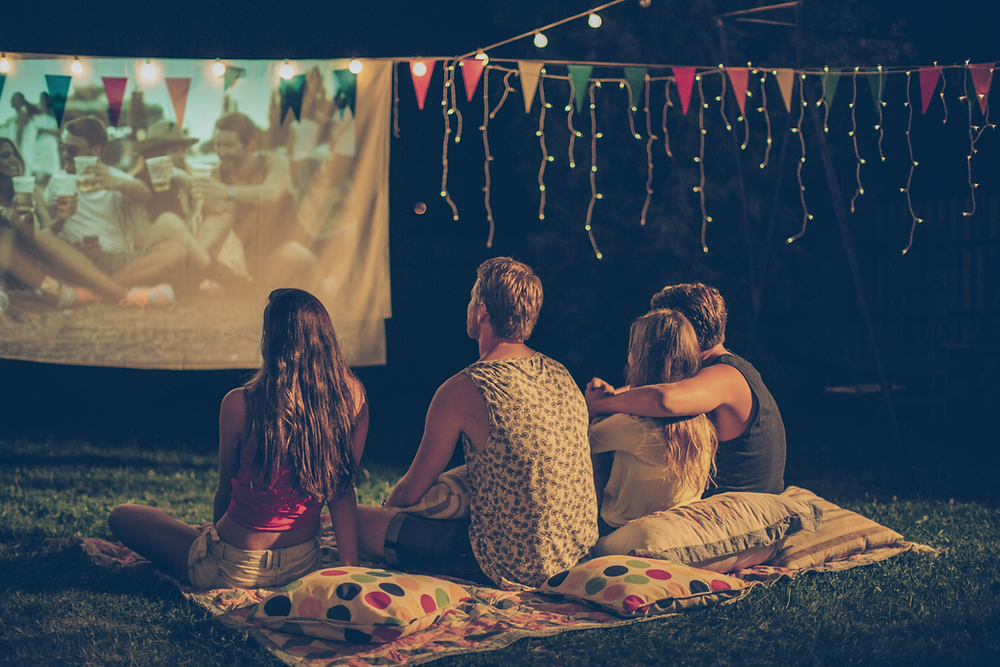 Watch a movie under the stars and fireworks