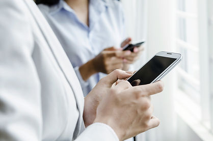 Pharmacist on smartphone