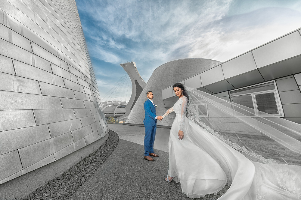Montreal Olympic Stadium Wedding day pictures