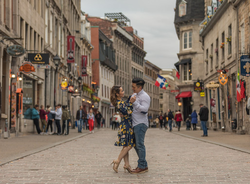 Old Montreal Engagement Session | Linda & Ryan