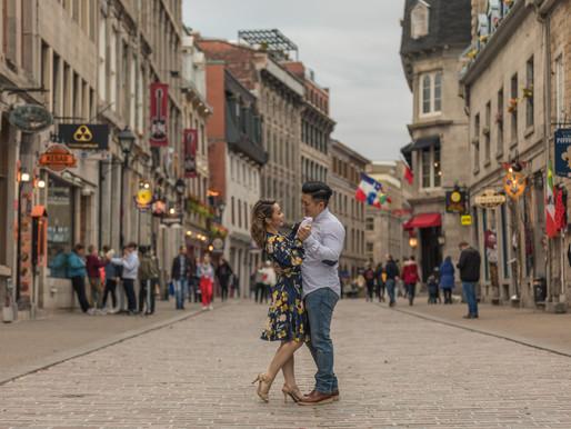 Old Montreal Engagement Session | Linda & Ryan