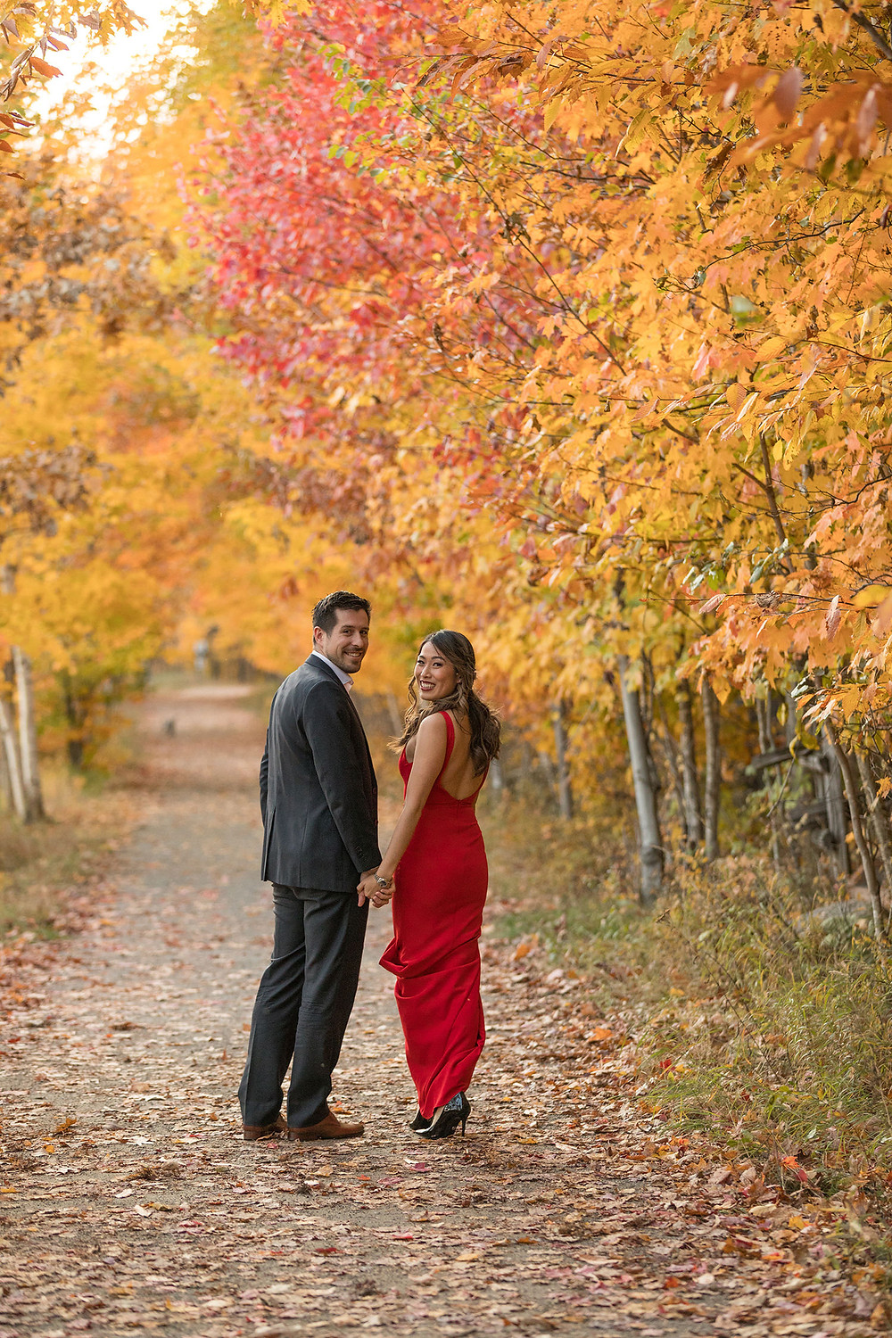 montreal fall engagement session