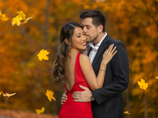 Mont-Tremblant Fall Engagement Session   Montreal Wedding Photographer