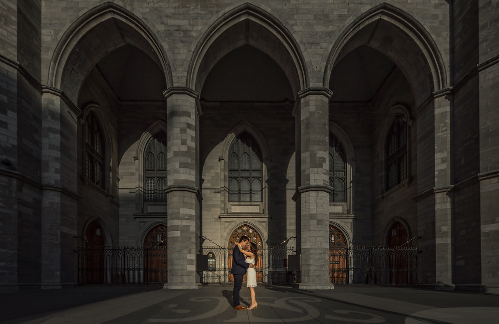 montreal wedding photographer - Old montreal engagement session