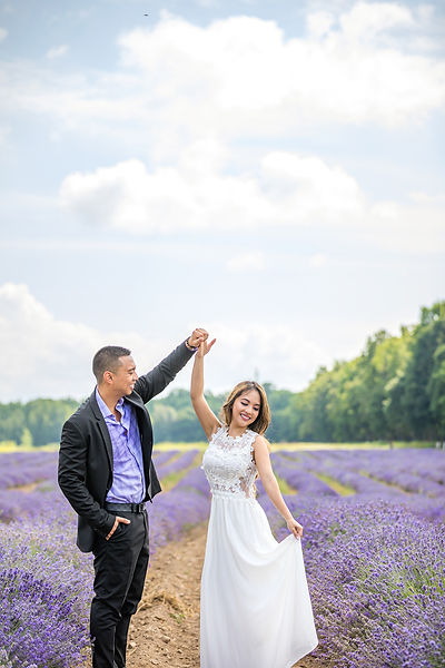 montreal blue lavender engagement sessio
