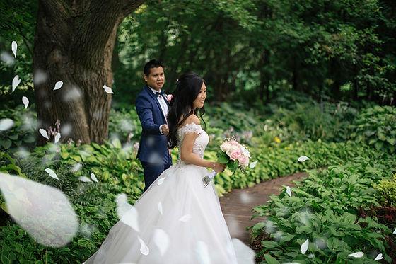 centre de la nature wedding photo