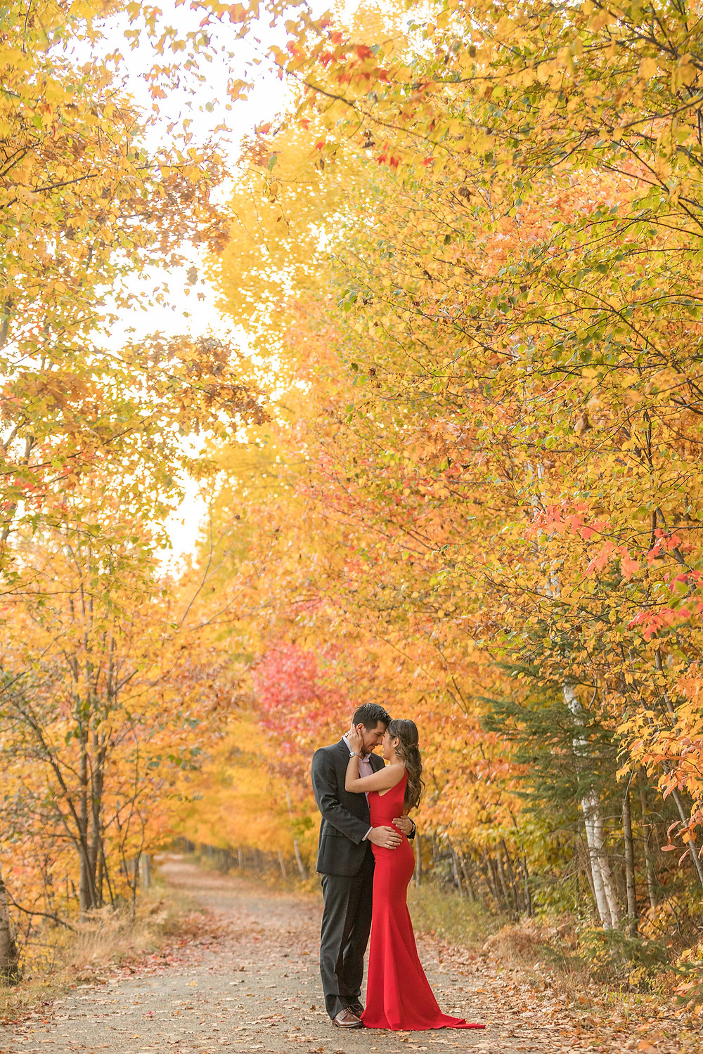 montreal wedding fall engagement session