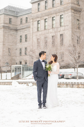 montreal winter wedding photographer