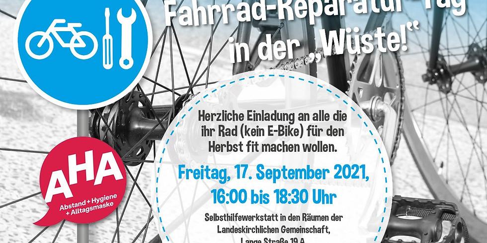 """Fahrrad-Reparatur Tag in der """"Wüste!"""""""