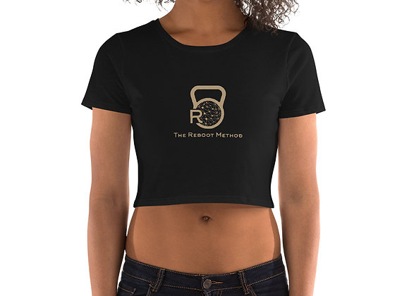 Crop Top femme logo TRM doré