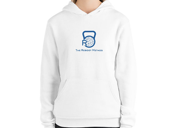 Sweat à capuche unisexe logo TRM bleu