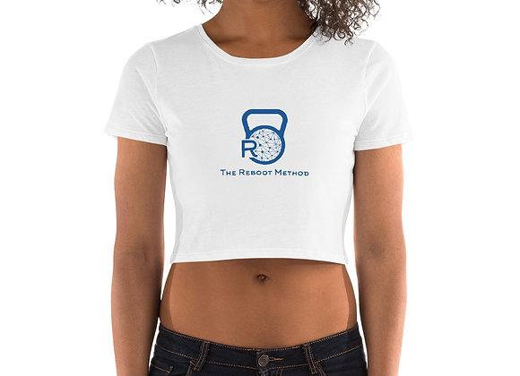 Crop Top femme logo TRM bleu