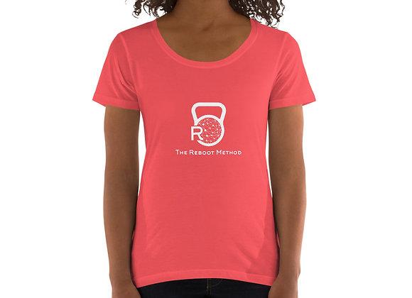 T-shirt large encolure femme logo TRM blanc