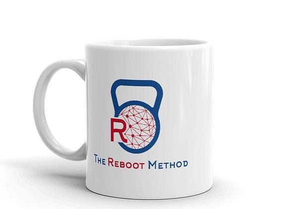 Mug blanc avec logo TRM bleu rouge