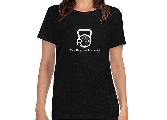 T-shirt col rond femme logo TRM blanc