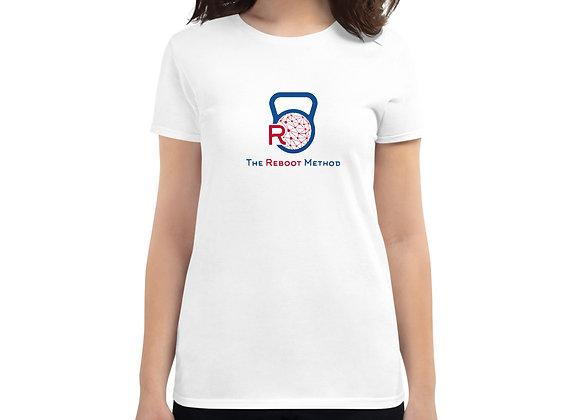 T-shirt femme logo TRM bleu et rouge