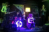 Wairehu Grant (electric guiar), Albert Bannister (trumpet), Lott Larsson (drums), Macaila Eve (violin) - the Goth and the Pixie peformig at Nivara Lounge