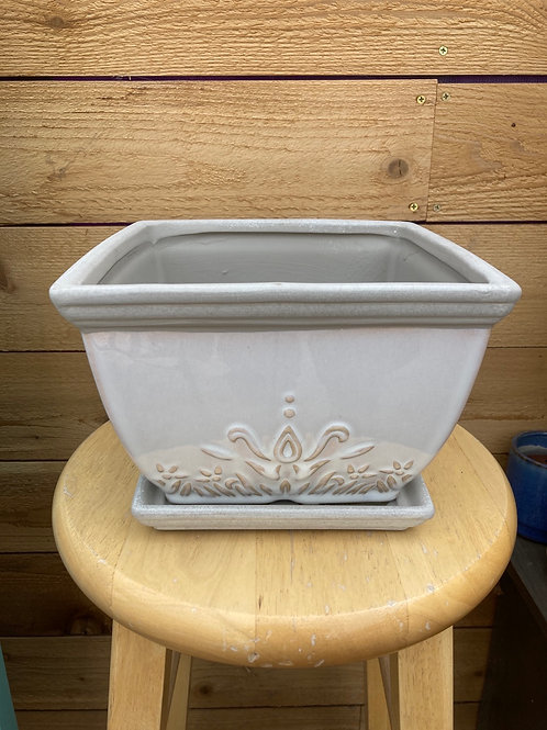"""8"""" Brentwood White Square Pot"""