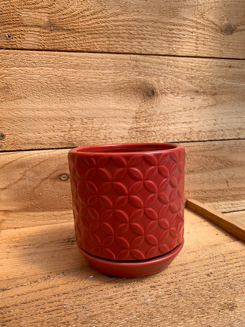 5in. Red Rosalind Planter