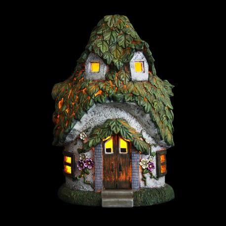14-inch-solar-cottage-leaf-roof