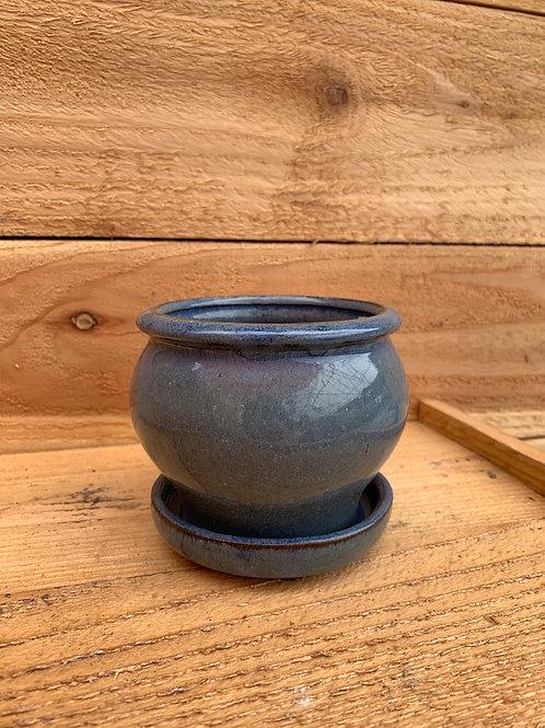 Blue 4in. Pot