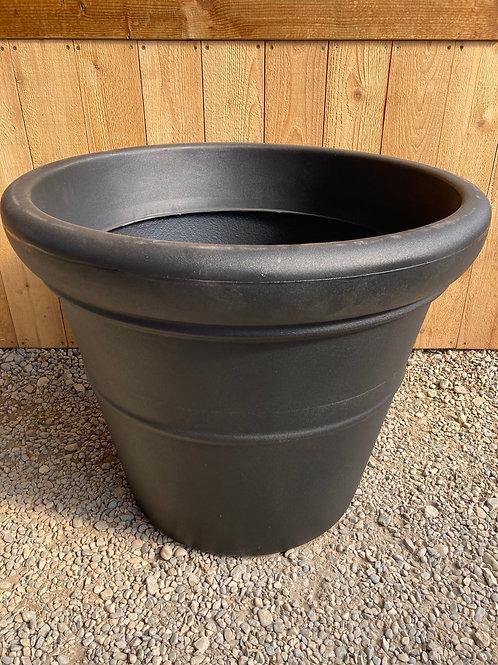 "30"" Black Round Pot"