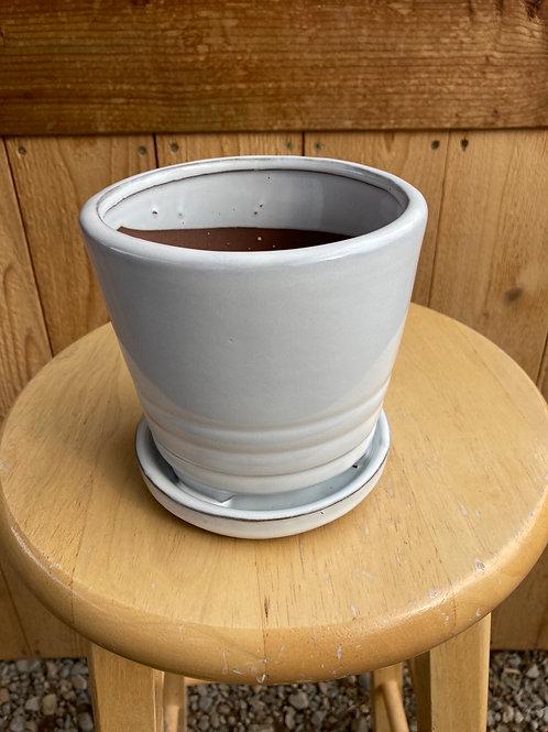 """5"""" Verandah White Kona Ceramic Pot"""