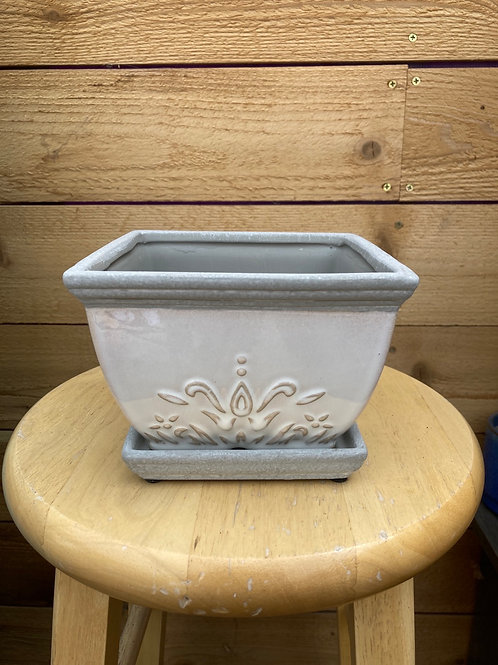 """6"""" Brentwood White Square Pot"""