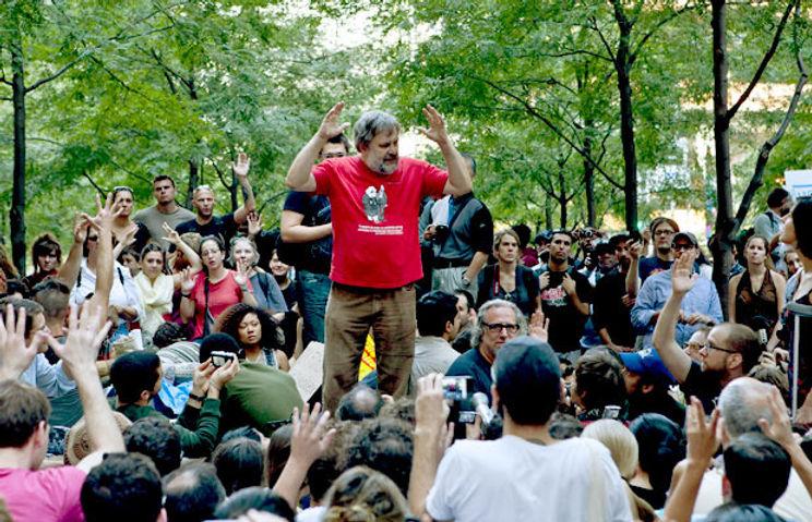 Slavoj Žižek habla en Occupy Wall Stre