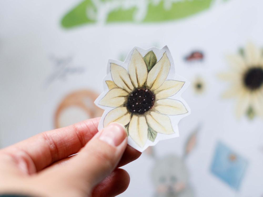 Cute sunflower sticker from my Etsy shop