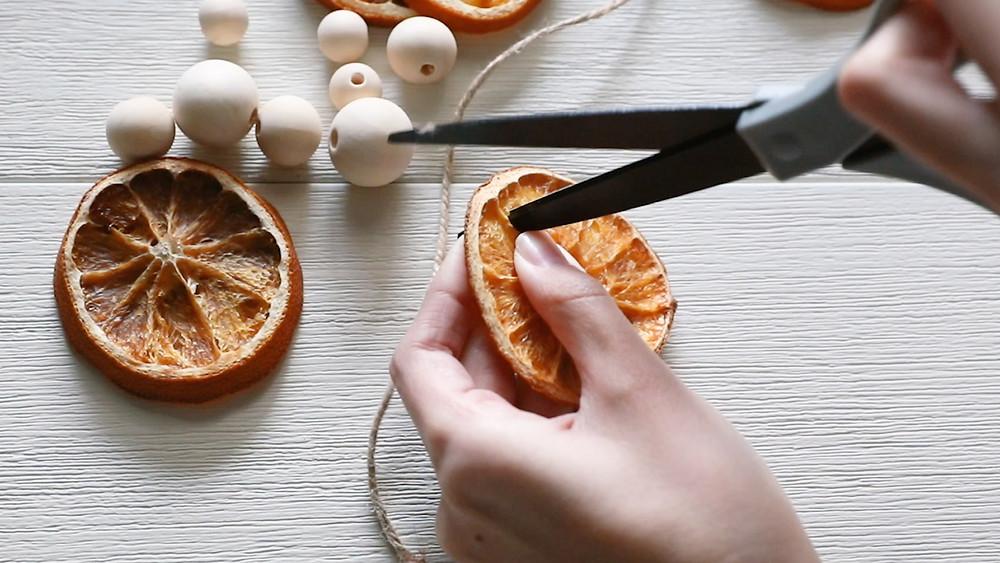 Orange slice ornaments diy