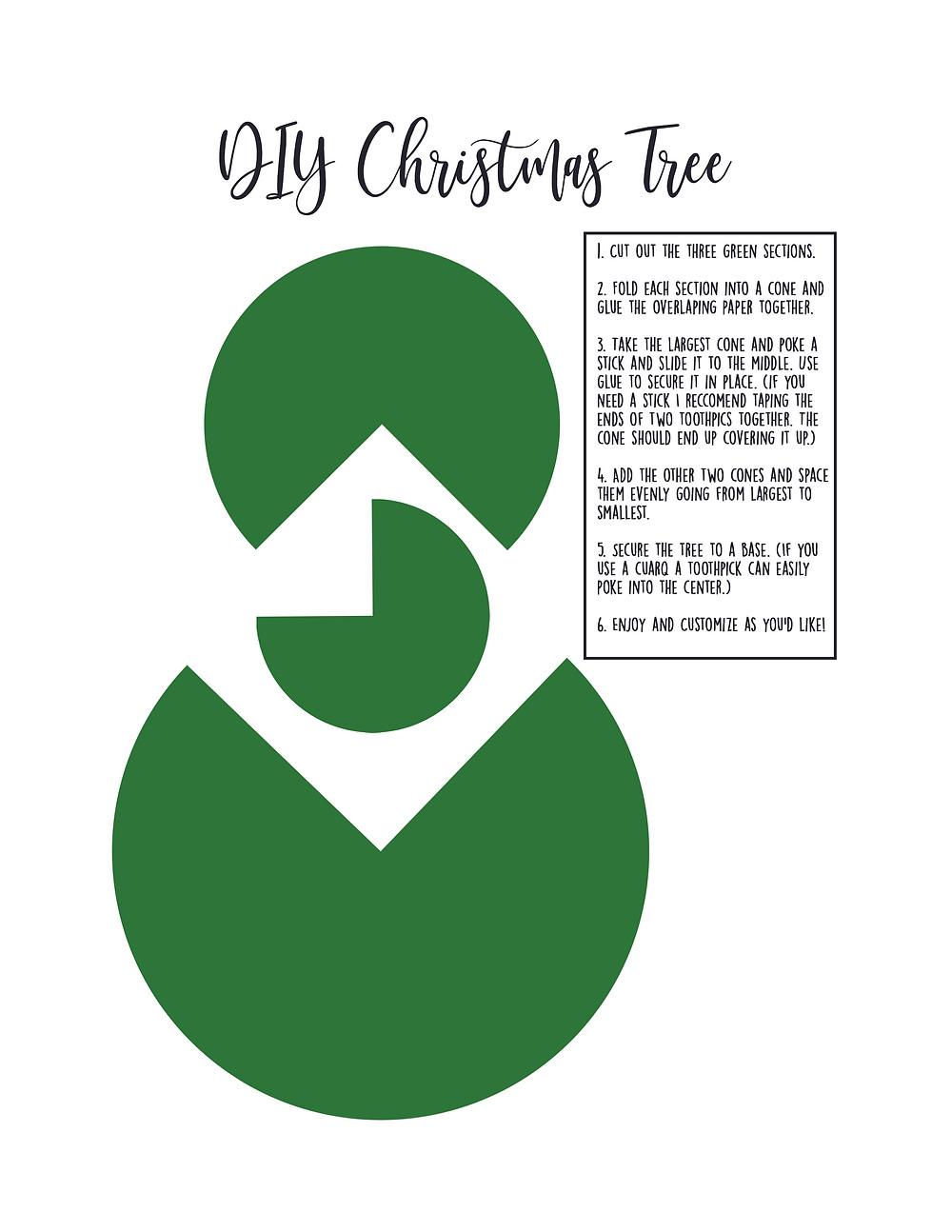 DIY Christmas tree with a free printable