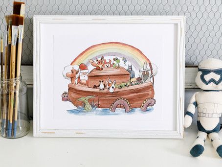 Noah's Ark but With Starwars Characters, Batman, LOTR, Yoshi, Unicorns, Santa, and MORE!