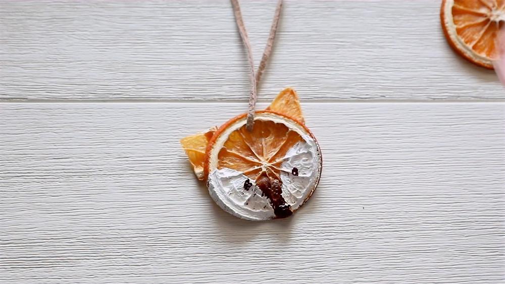 Dried Orange Slice Fox Ornament