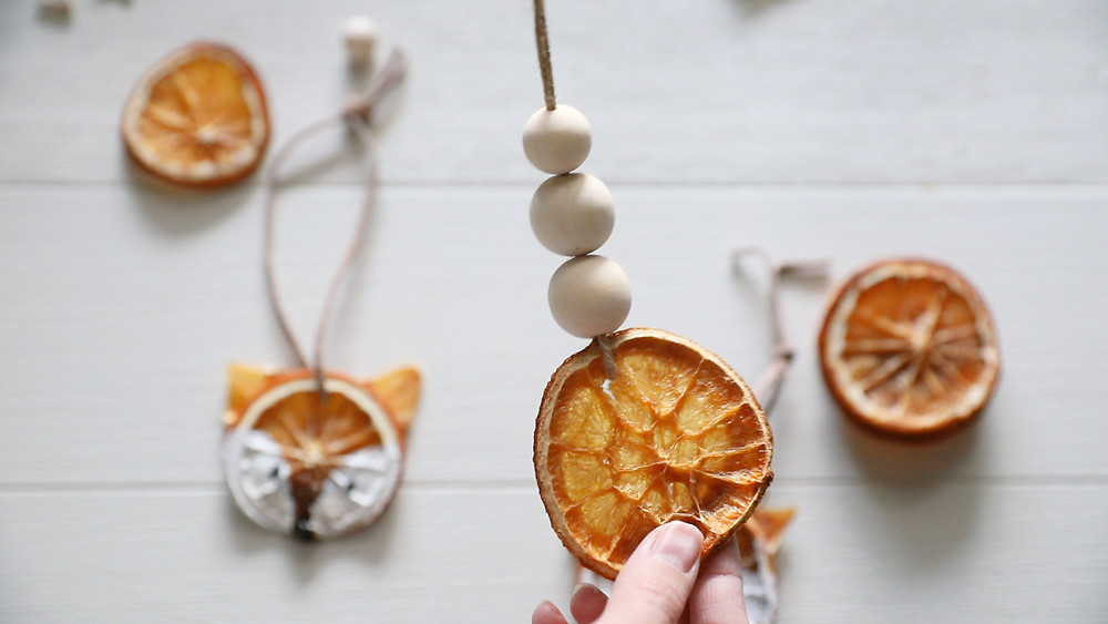 Dried Orange Slice Ornament with Beads